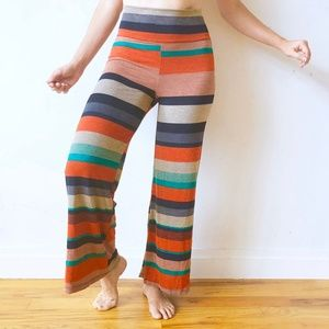 Color Block Stretchy Fold-Over Dance / Yoga Pants